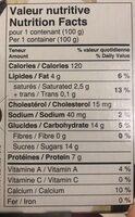 Liberté Greek extra creamy - Informations nutritionnelles - fr