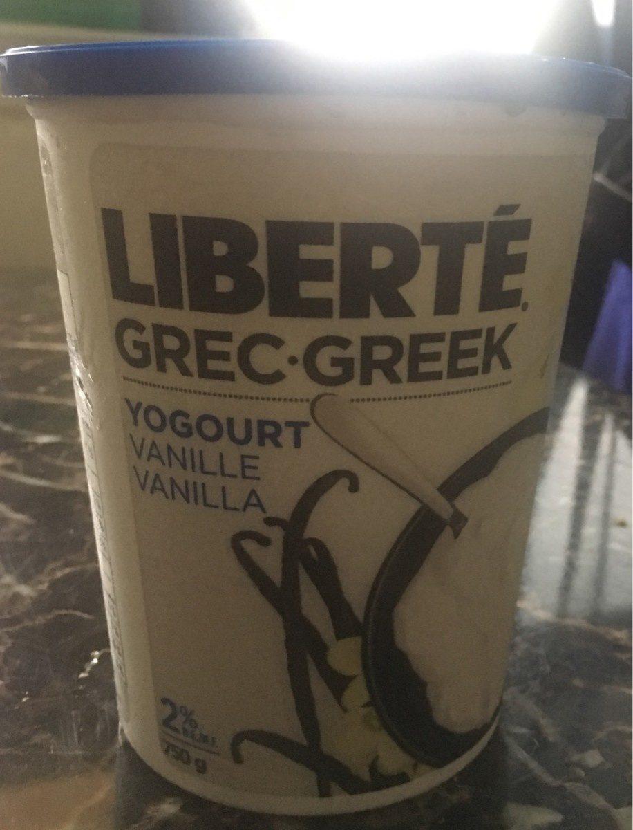 grec yogourt vanille - Produit - fr