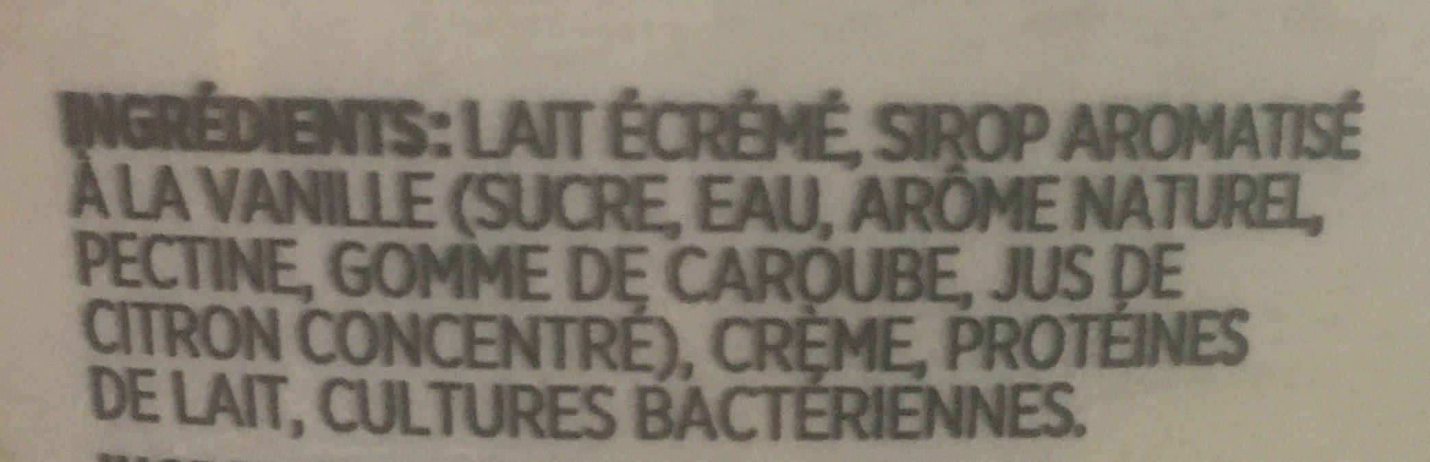 grec yogourt vanille - Ingrédients - fr