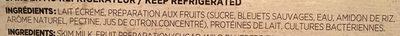 Yogourt bleuet sauvage - Ingrédients - fr