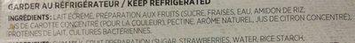 Yogourt fraise - Ingrédients - fr