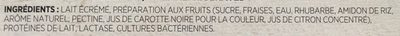 Yogourt fraise rhubarbe - Ingredients - fr