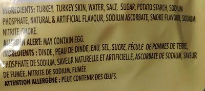 Butterball Turkey Bacon - Ingredients - fr