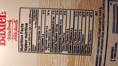 Lait partiellement écrémé 2% - Ingredients - en