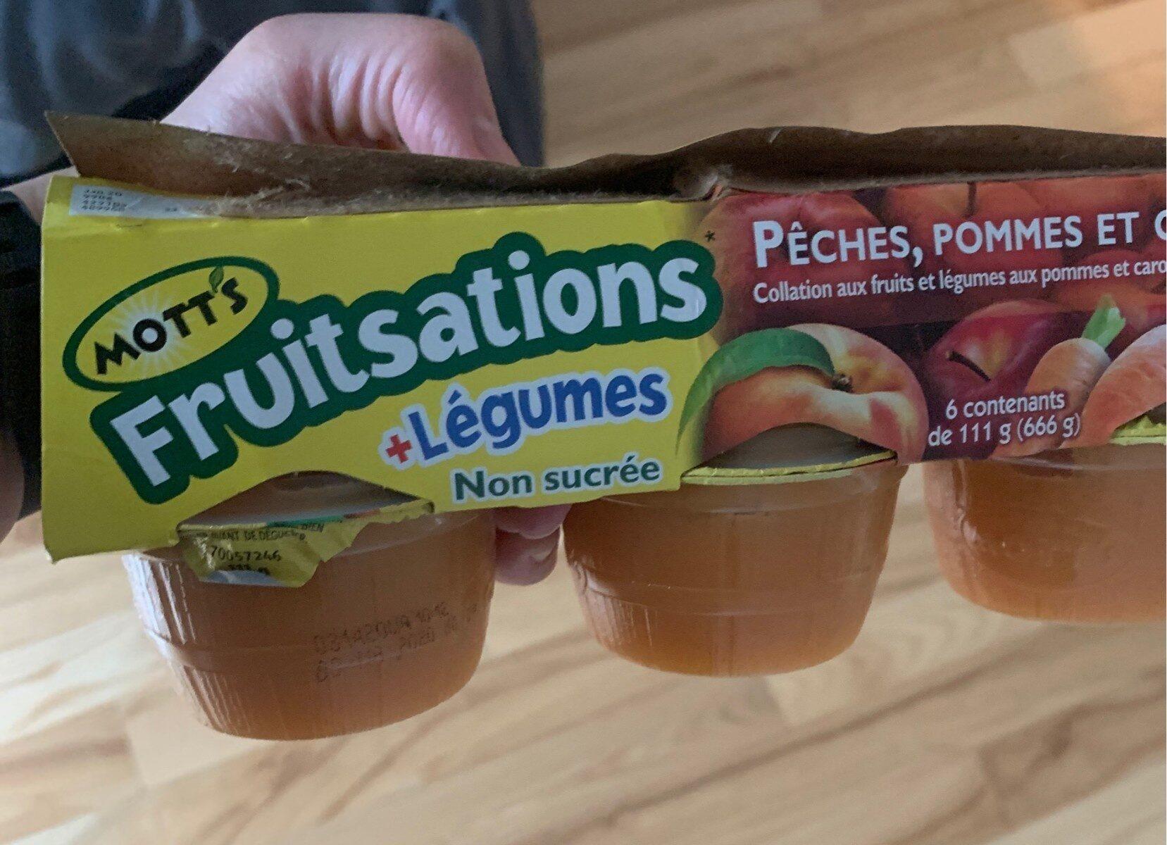 Compote peches pommes et carottes - Produit - fr