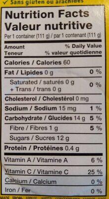 Compote peches pommes et carottes - Informations nutritionnelles - fr