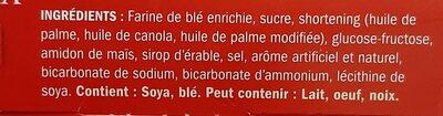Maple Cream Cookies - Ingredients - fr