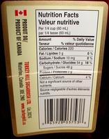 Sirop d'érable Pur Canadien - Ingrédients - fr