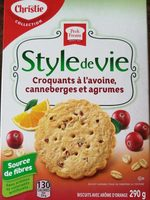 Croquant a l'avoine canneberges et agrumes - Produit - fr