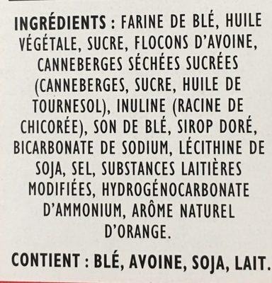 Croquant a l'avoine canneberges et agrumes - Ingrédients - fr