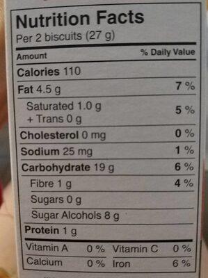 Fruit creme - Voedingswaarden - fr