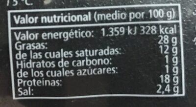 Bacon ahumado - Información nutricional - es