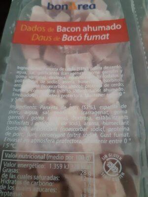 Dados de bacon ahumado - Ingredients - es