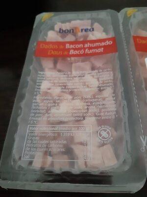 Dados de bacon ahumado - Informació nutricional - es