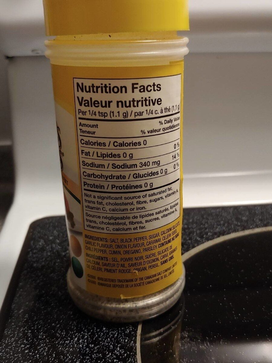 Nature's Seasons - Nutrition facts - fr