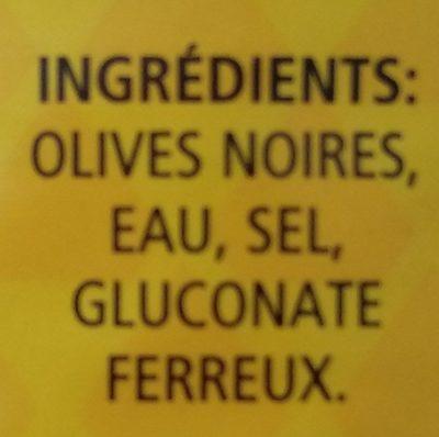 Olives Noires - Ingredients - fr