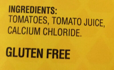Whole Peeled Tomatoes - Ingredients