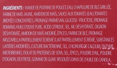 Poulet parmigiana - Ingredients - fr