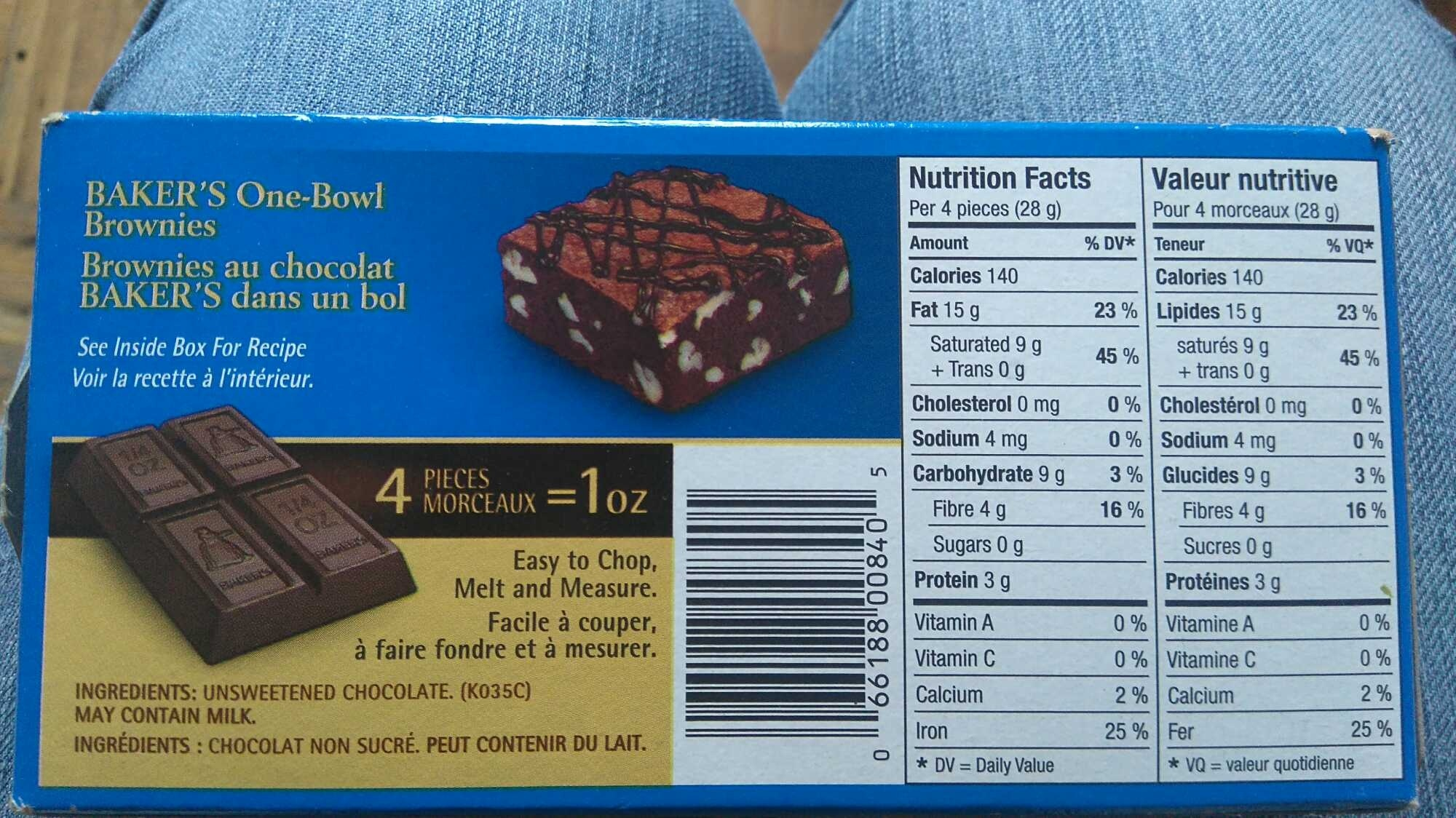 Unsweetened Chocolate - Product