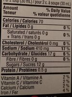 La grille grilling made easy bbq sauce montreal steak spice - Nutrition facts - fr