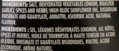 Montreal Chicken Seasoning - Ingrediënten - fr