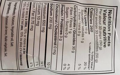 Croustilles - Nutrition facts - fr