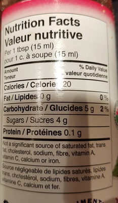 Home style spread - Nutrition facts