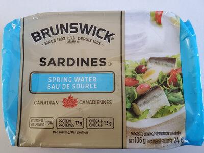 Sardine Fillets in Spring Water - Produit