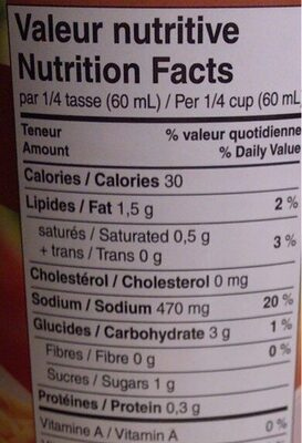 Bbq gravy sauce - Nutrition facts - en