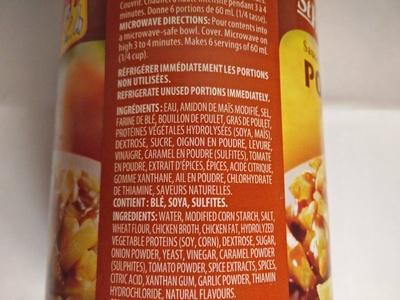 St hubert poutine gravy - Ingredients - fr