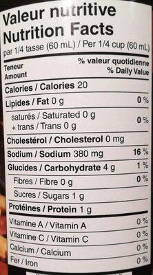 Sauce poutine prête à servir - Nutrition facts