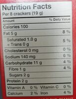 Ritz Bits Sandwiches Peanut Butter - Informations nutritionnelles - fr