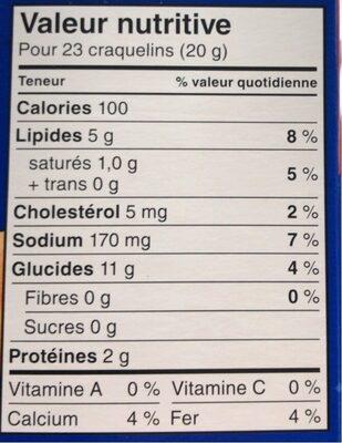 batonnets au fromage - Informations nutritionnelles - fr