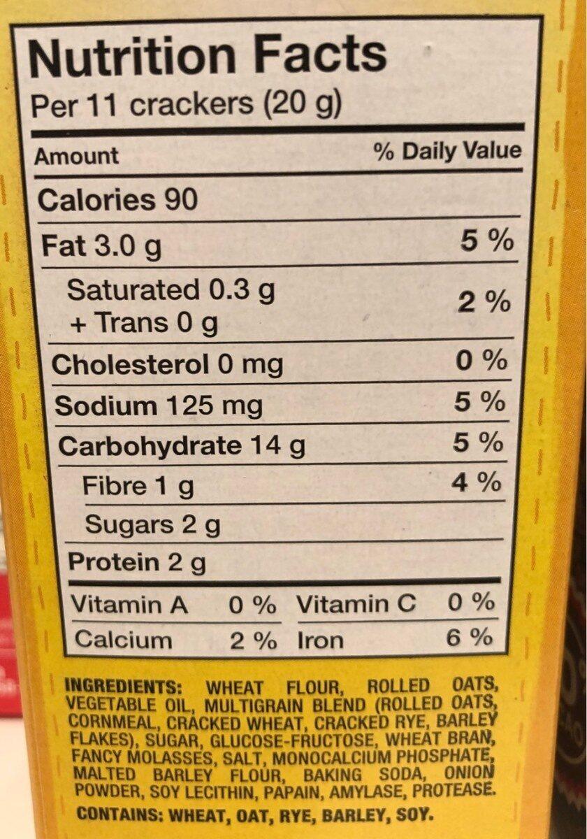 Craquelins Fin Blé Multigrains - Informations nutritionnelles - fr