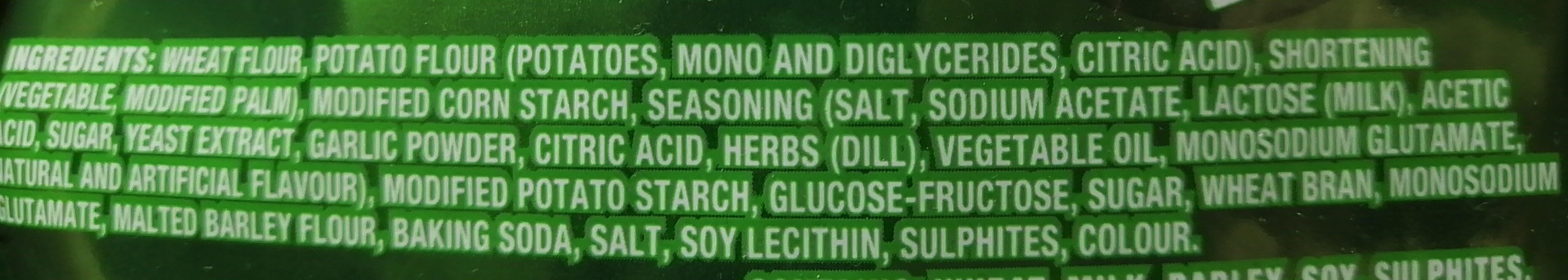 Crispers dill pickle - Ingrediënten - en