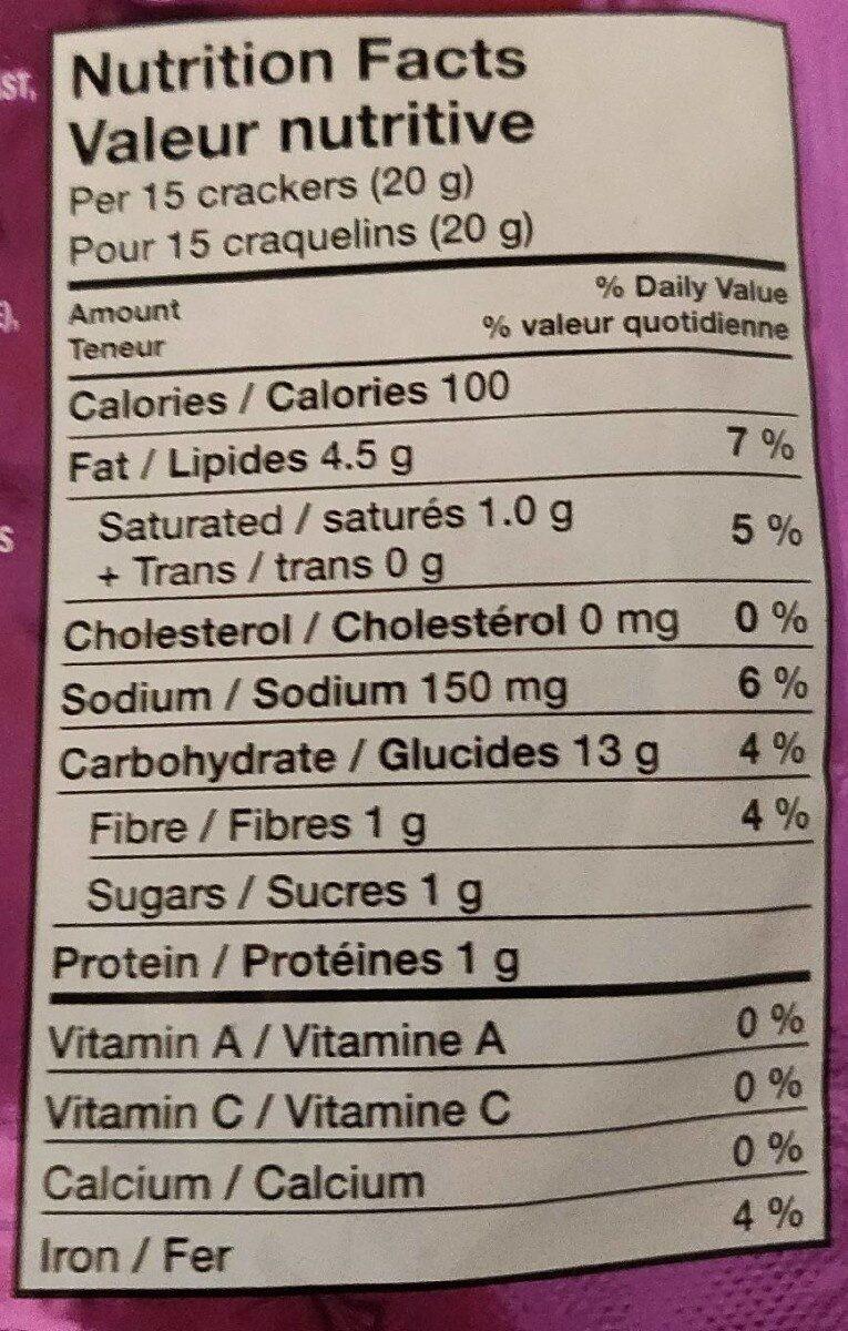 Crispers - Nutrition facts - en