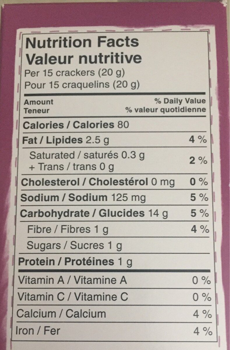 Good thins - Voedingswaarden - en