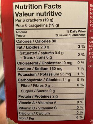 PREMIUM PLUS CRACKERS - Informations nutritionnelles - fr