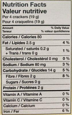 Triscuit - Informations nutritionnelles - fr