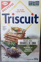 Triscuit, graines de chia, saveur romarin et piments Jalapeños - Product - fr