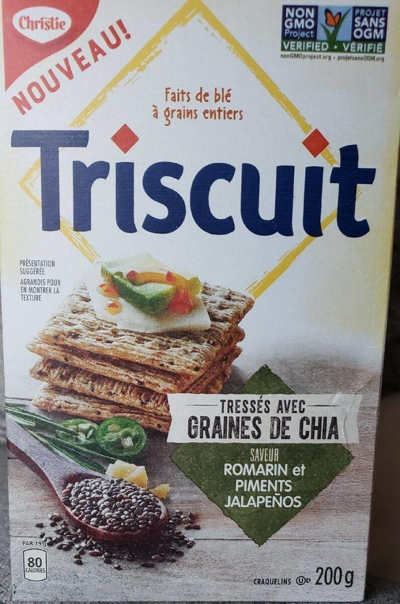 Triscuit, graines de chia, saveur romarin et piments Jalapeños - Nutrition facts - fr