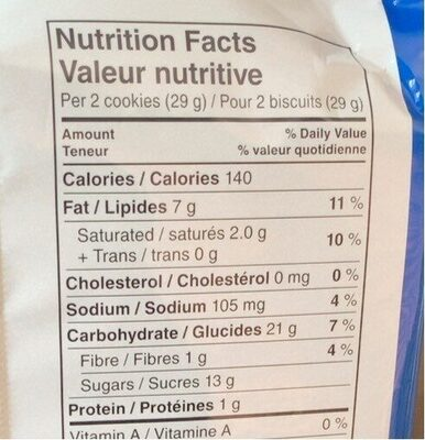 Oreo - Informations nutritionnelles - fr