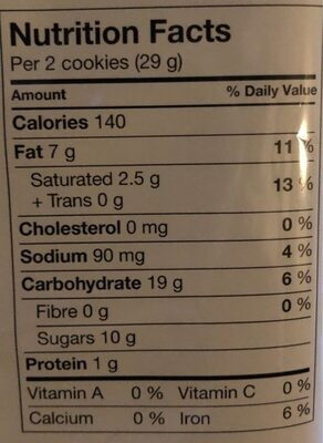 Chips ahoy rainbow - Nutrition facts - fr