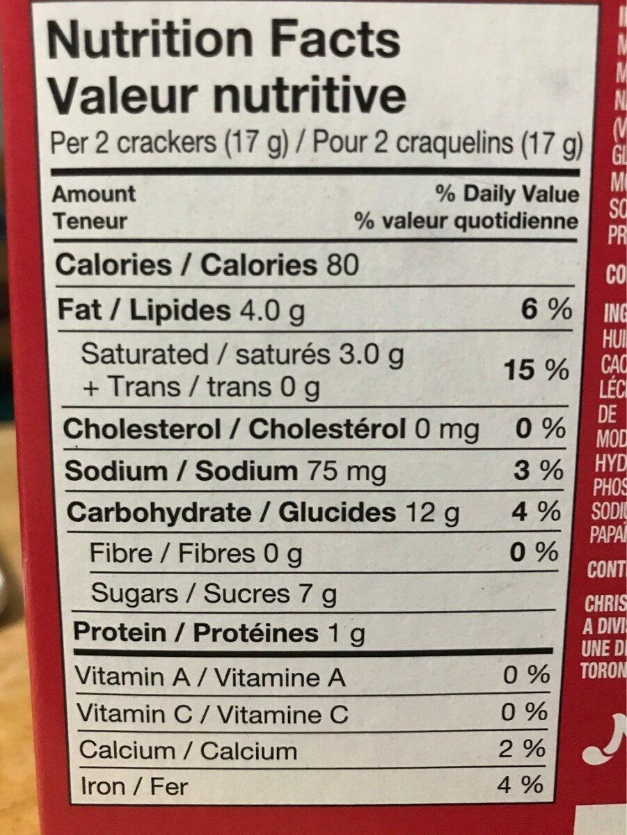 Ritz enrobés de fudge - Nutrition facts - fr