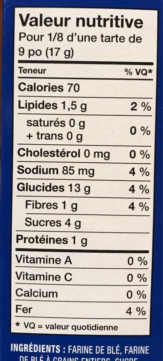 Honeymaid Graham Crumbs - Nutrition facts - fr