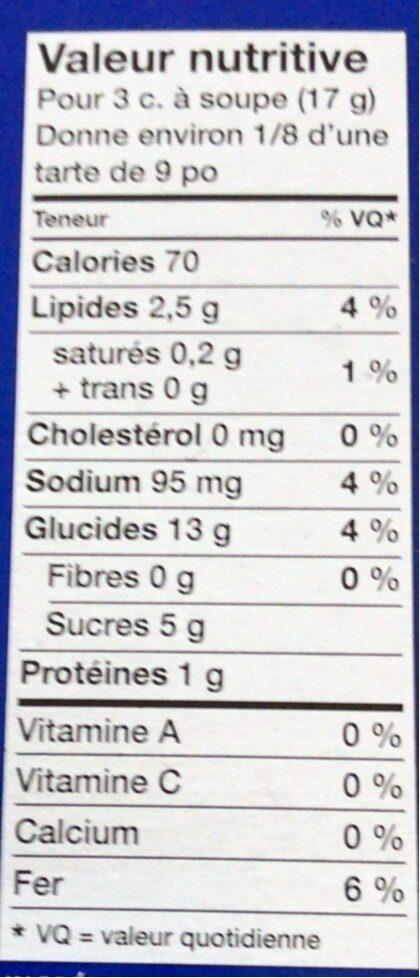 Chapelure de biscuit - Voedingswaarden - fr