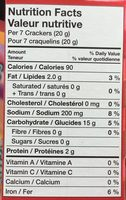 Craquelins Premium Plus - Nutrition facts