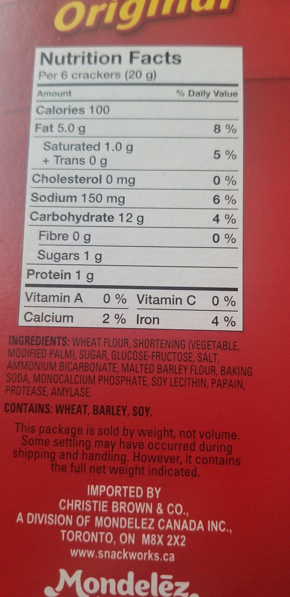 Ritz original - Ingredients - en