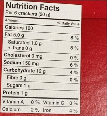 Ritz original - Nutrition facts - en