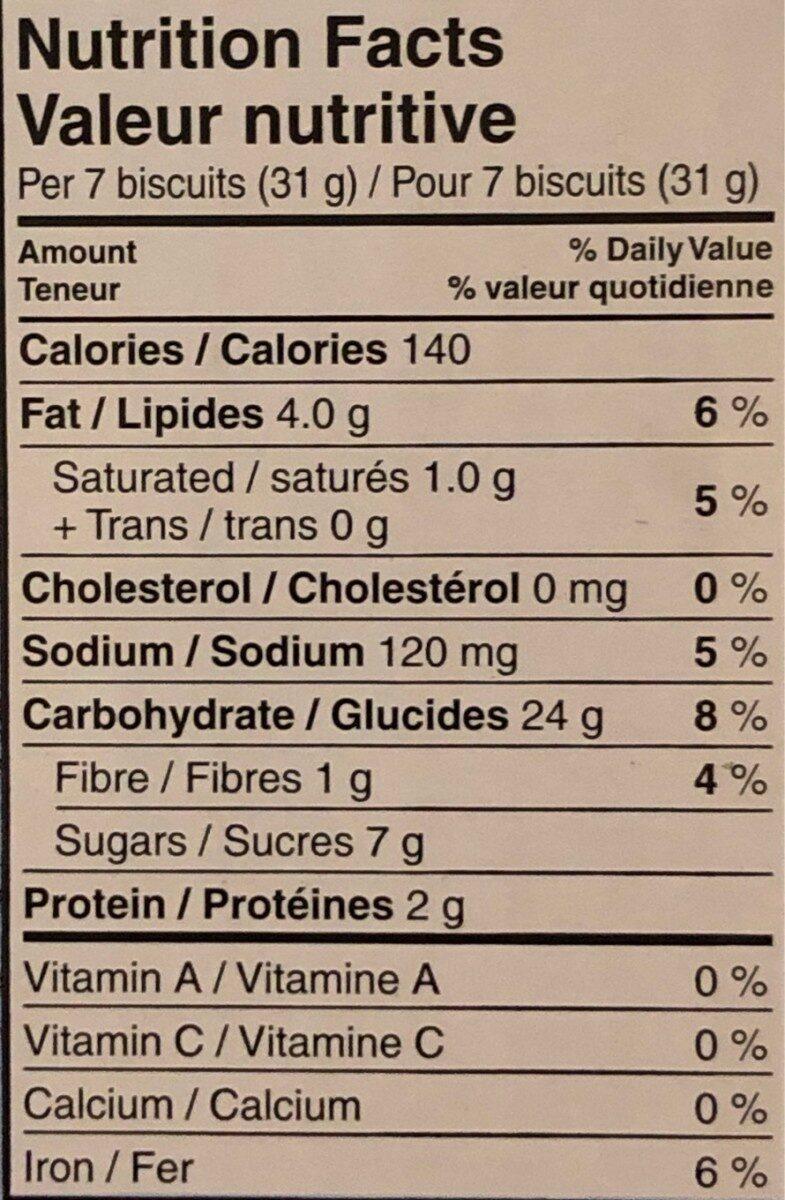 Buiscuit au thé - Informations nutritionnelles - fr